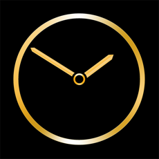 Gold Luxury Clock iOS App for iPhone and iPad
