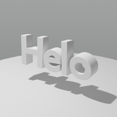 Speach To 3D Text iOS App for iPhone and iPad