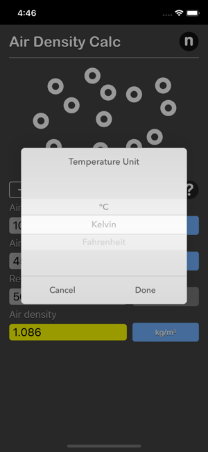 Air Density Calculator iOS App for iPhone and iPad