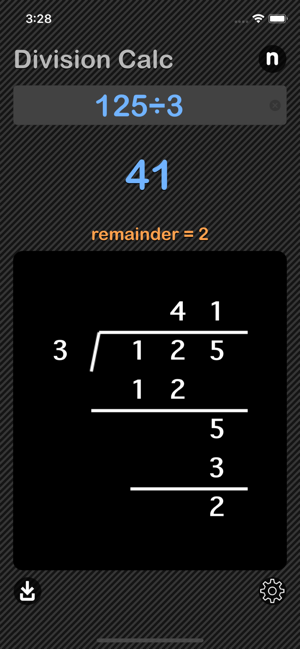 Division Calculator iOS App for iPhone and iPad