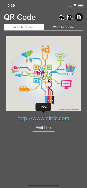 QR Code Nitrio iOS App for iPhone and iPad
